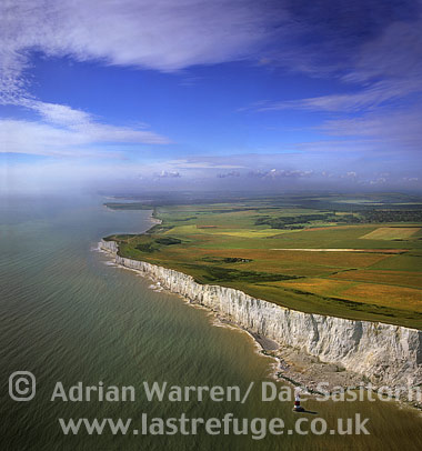 White Cliffs and lighthouse at Beachy Head, East Sussex, England