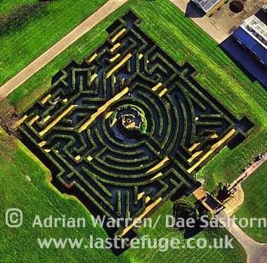 Maze at Leeds Castle, Kent, England