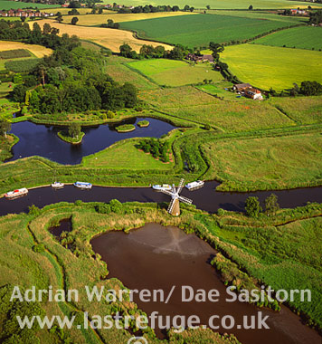 River Ant, Norfolk Broads, near How Hill, Norfolk, England