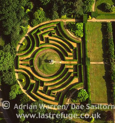 Maze at Somerleyton Hall, Suffolk, England
