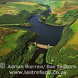 Derwent Reservoir looking north to Howden Reservoir, Peak District, Derbyshire, England