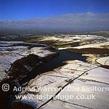 Peak District in snow, Derbyshire, England