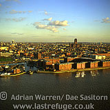 Albert Dock, Liverpool waterfront, with Liverpool Anglican Cathedral in background, Merseyside, England