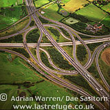 M25 / M11 Motorway Junction, roads, Essex, England