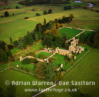 Jervault Abbey, Yorkshire Dales, Yorkshire, England