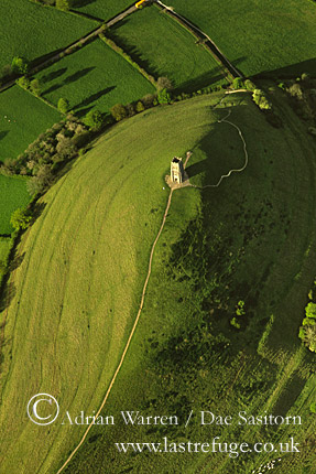 Glastonbury Tor and St Michael's Tower, glastonburuy, Somerset, England