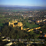 Ludlow Castle and town of Ludlow, Shropshire, England