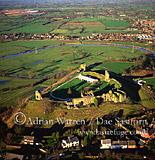 Tutbury Castle and River Dove, Staffordshire, England