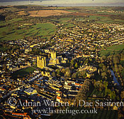 Wells Cathedral and its city Somerset, England