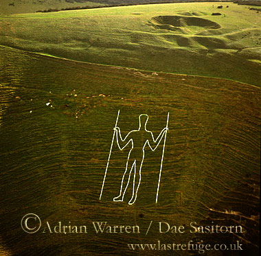 Long Man of Wilmington, East Sussex, England