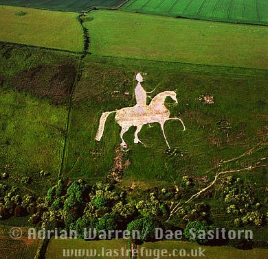 Osmington White Horse, Osmington, Dorset, England