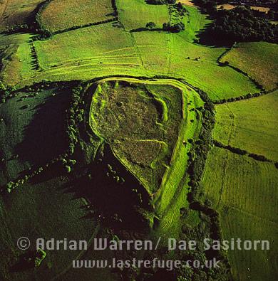 Brent Knoll Hill Fort, Somerset, England