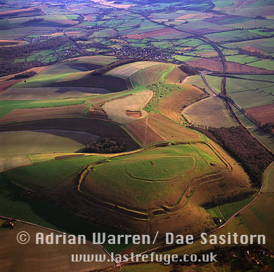 Scratchbury Hill Fort, Wiltshire, England
