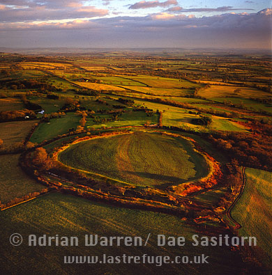 Maesbury Camp Hill fort, Somerset, England