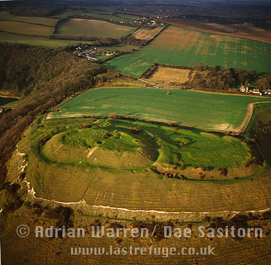 Castle Hill fort, east of Channel tunnel terminal, Kent, England