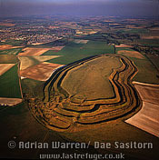 Maiden Castle (Hill Fort), Dorset, England