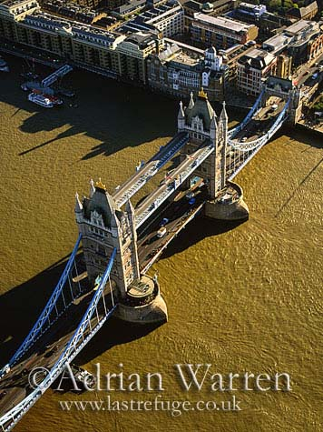 Tower Bridge and the River Thames, London, England