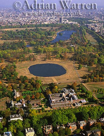 Kensington Palace and Hyde Park, London, England