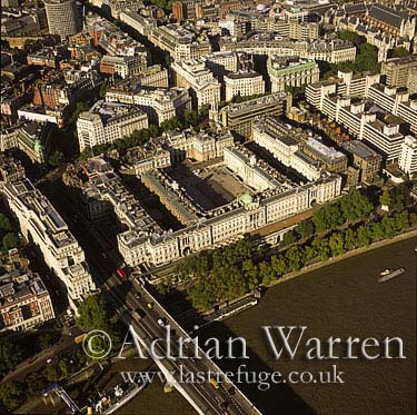 Somerset House and the River Thames, London, England