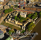 Tower of London and the River Thames, London, England
