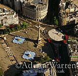 Trafalgar Square, Nelson column, London, England