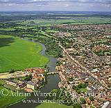 St. Ives and river Great Ouse, Cambridgeshire, England