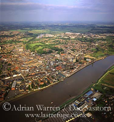 King's Lynn and River Great Ouse, Norfolk, England