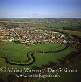 Sudbury on the river Stour, Suffolk, England