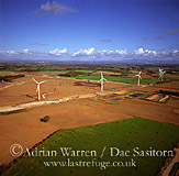 Great Orton Airfield, foot and mouth burial site victims and wind farm, Cumbria, England