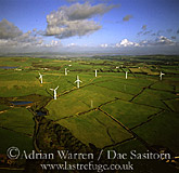 Wind farm at Askam in Furness, Cumbria, England