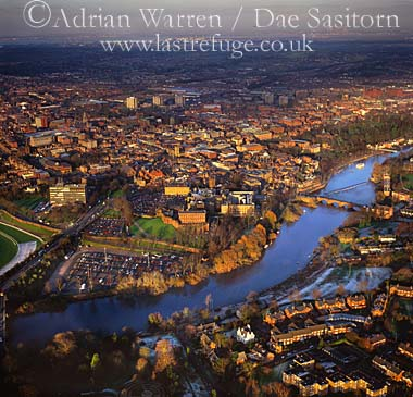 Chester and River Dee, Cheshire, England