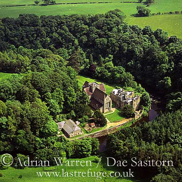 Brinkburn Abbey and River Coquet, Northumberland, England
