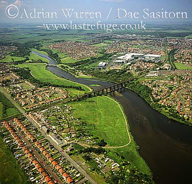 Ashington and River Wansbeck, Northumberland, England
