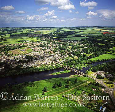 Corbridge and river Tyne, Northumberland, England