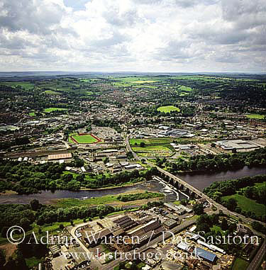 Hexham and River Tyne, Northumberland, England