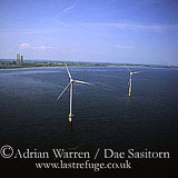 Wind Turbines in the sea, Blyth, Northumberland, England