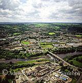 Hexham and River Tyne, Northumberland, England