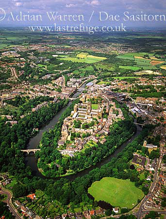 durham castle, cathedral, city and the river wear , durham