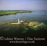 Lighthouse on St. Mary (Bait Island), North of Whitley Bay, Tyne and Wear, England