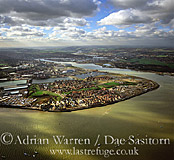 St Mary's Island and the Medway Estuary, near Chatham, Kent, England