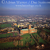 Guildford Cathedral and its city, Surrey, England