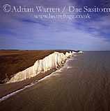 White Cliffs near Seven Sisters, East Sussex, England
