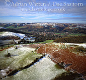 Church Stretton in snow, Shropshire, England