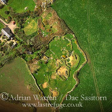 Carn Euny Ancient Ruined Settlement, Iron age village, Sancreed, Cornwall, England