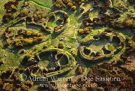 Chysauster Settlement, Iron age village, Cornwall, England