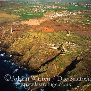 Tin mines, Cape Cornwall, Cornwall, England