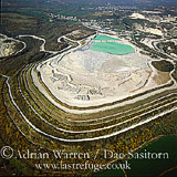 China Clay Quarries, St. Austell, Cornwall, England