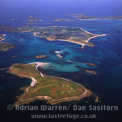 Samson with Tresco in background, Isles of Scilly, Cornwall, England