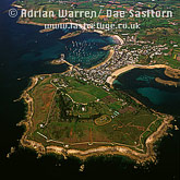 The Garrison and Hugh Town, St. Mary's, Isles of Scilly, Cornwall, England
