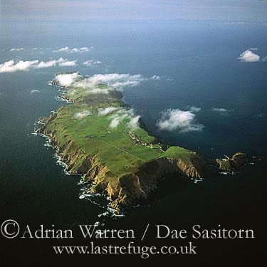 Lundy Island looking from the South, Devon, England